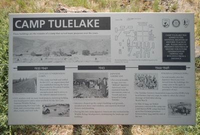 Camp Tulelake Marker image. Click for full size.