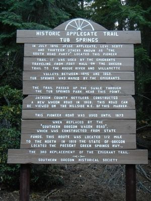 Historic Applegate Trail Marker image. Click for full size.