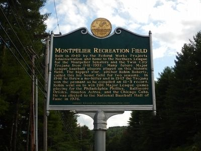 Montpelier Recreation Field Marker image. Click for full size.