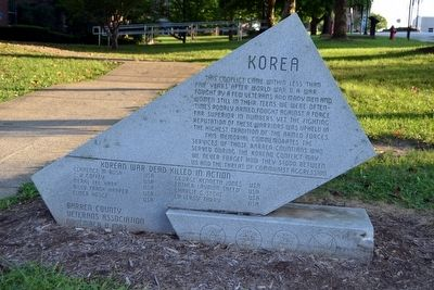 Barren County Korean Conflict Memorial image. Click for full size.