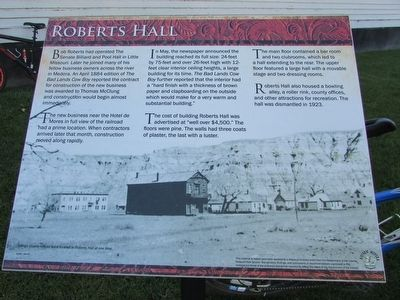 Roberts Hall Marker image. Click for full size.