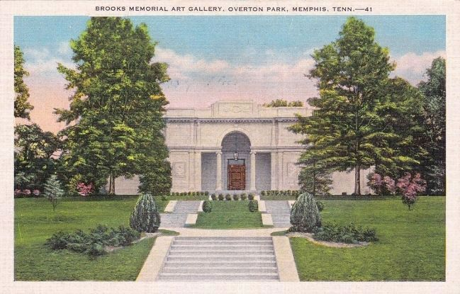 <i>Brooks Memorial Art Gallery, Overton Park, Memphis, Tenn.</i> image. Click for full size.