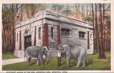 <i>Elephant House at the Zoo, Overton Park, Memphis, Tenn.</i> image. Click for full size.