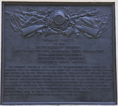 6th Indiana Infantry Marker image. Click for full size.