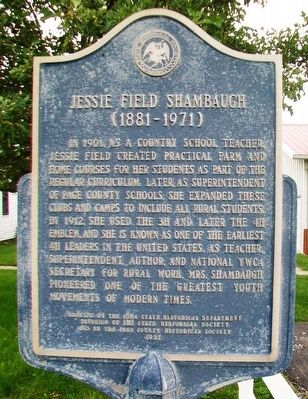Jessie Field Shambaugh Marker image. Click for full size.