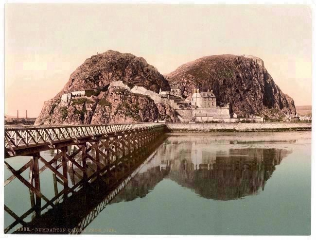 Dumbarton Castle 1905 image. Click for full size.