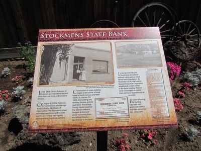 Stockmens State Bank Marker image. Click for full size.
