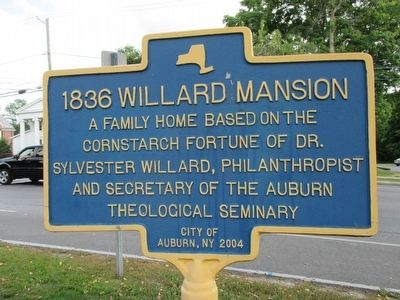 1836 Willard Mansion Marker image. Click for full size.