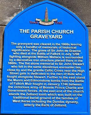 The Parish Church Graveyard Marker image. Click for full size.
