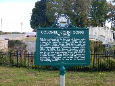 Colonel John Goffe Marker image. Click for full size.