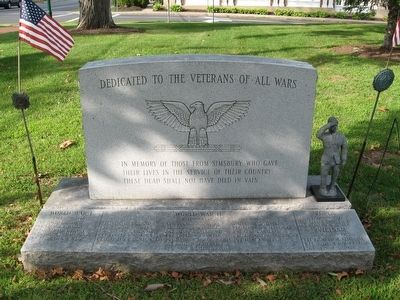 Simsbury Veterans Memorial image. Click for full size.