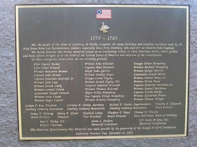 Simsbury Revolutionary War Memorial image. Click for full size.