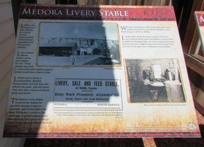 Medora Livery Stable Marker image. Click for full size.