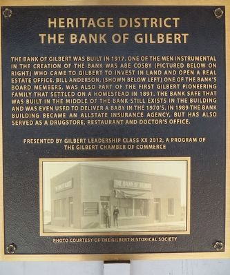 The Bank of Gilbert Marker image. Click for full size.