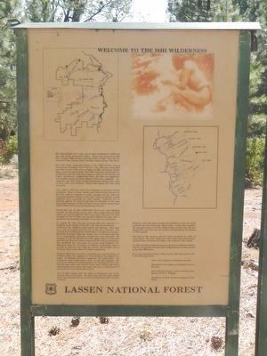 Welcome to the Ishi Wilderness Marker image. Click for full size.