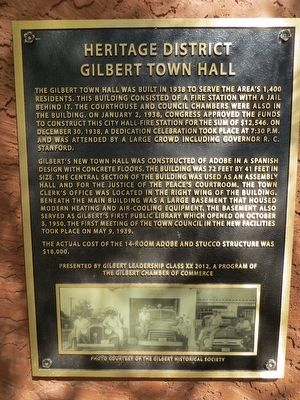 Gilbert Town Hall Marker image. Click for full size.