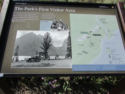 The Park's First Visitor Area Marker image. Click for full size.
