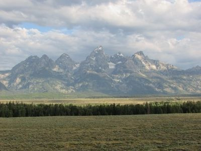 Teton Glaciers Seen from the Marker image. Click for full size.
