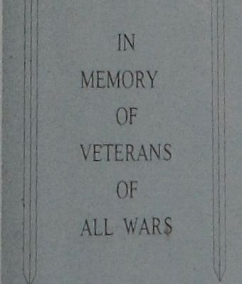 Hale Township Veterans Memorial Marker image. Click for full size.