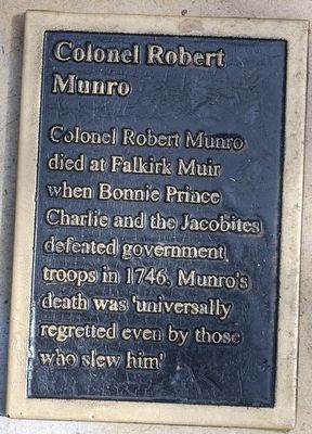 Colonel Robert Munro Marker image. Click for full size.