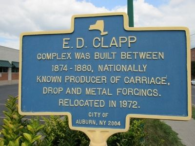 E.D. Clapp Marker image. Click for full size.