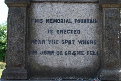Sir John De Graeme Memorial Marker image. Click for full size.