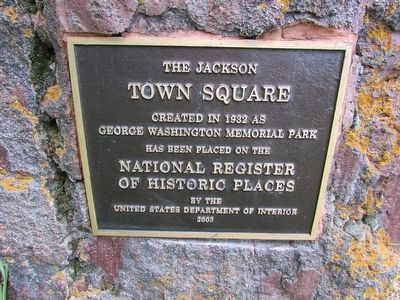 The Jackson Town Square Marker image. Click for full size.