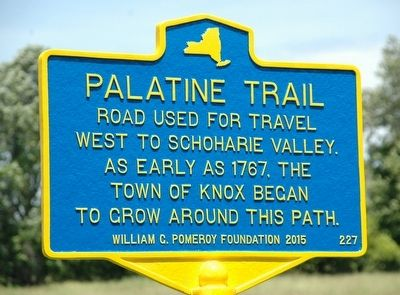 Palatine Trail Marker image. Click for full size.