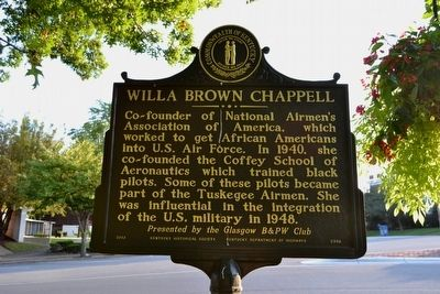 Willa Brown Chappell Marker image. Click for full size.