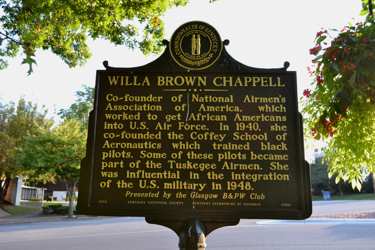 Willa Brown Chappell Marker