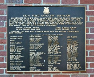 623rd Field Artillery Battalion Marker image. Click for full size.