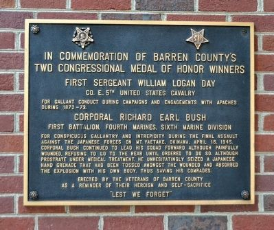 Barren County's Medal of Honor Winners Marker image. Click for full size.