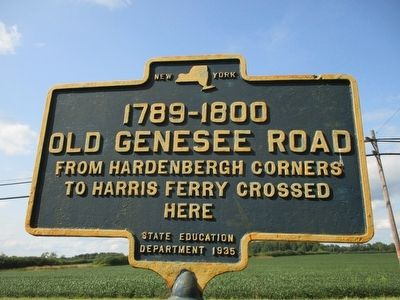 1789-1800 Old Genesee Road Marker image. Click for full size.