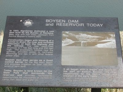 Boysen Dam and Reservoir Today Marker image. Click for full size.