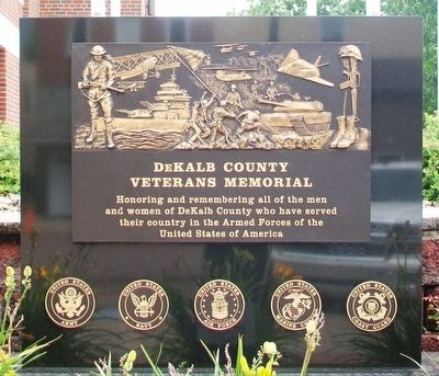 DeKalb County Veterans Memorial image. Click for full size.
