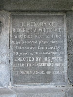 Roderick A. White M.D. Marker image. Click for full size.