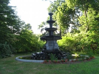 Roderick A. White M.D. Memorial Fountain image. Click for full size.
