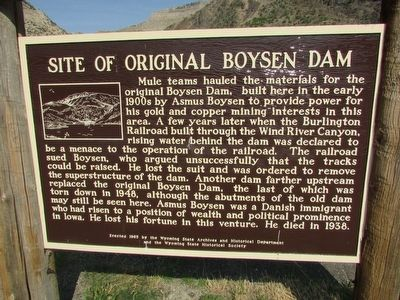 Site of Original Boysen Dam Marker image. Click for full size.