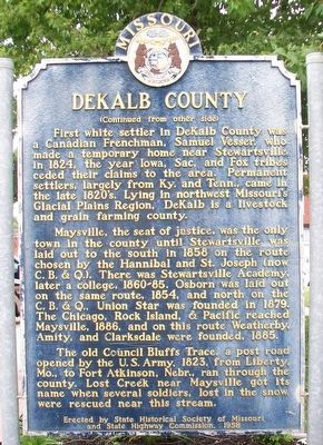 DeKalb County Marker (Side B) image. Click for full size.