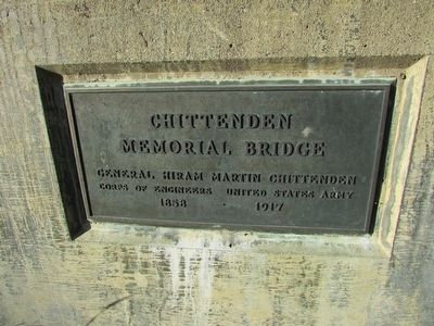 Chittenden Memorial Bridge Marker image. Click for full size.