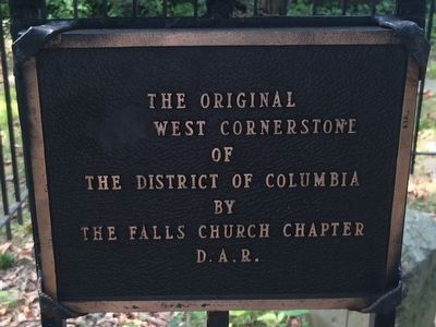Original West Corner Stone additional marker image. Click for full size.