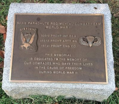 503rd Parachute Regimental Combat Team Marker image. Click for full size.