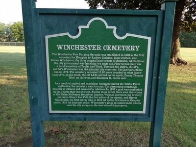 Winchester Cemetery Marker image. Click for full size.