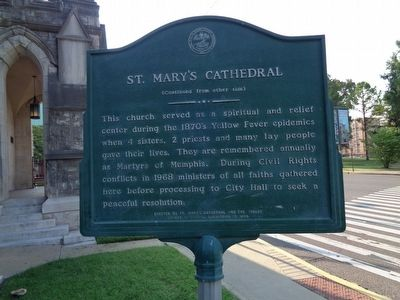 St. Mary's Cathedral Chapel and Diocesan House Marker image. Click for full size.