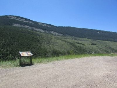 Marker in Bighorn National Forest image. Click for full size.