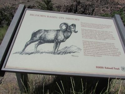 Bighorn Basin – Its History Marker image. Click for full size.