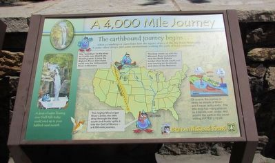 A 4,000 Mile Journey Marker image. Click for full size.