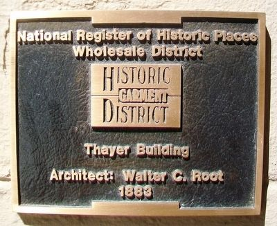 Thayer Building NRHP Marker image. Click for full size.