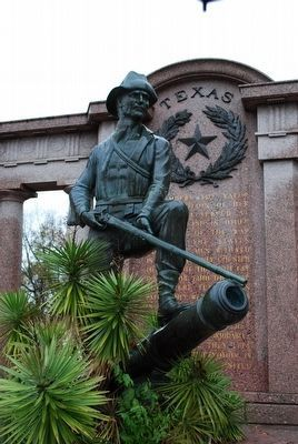 Texas Monument Soldier (by Henry Coe) image. Click for full size.