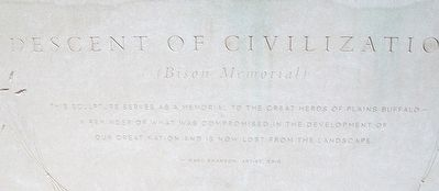 Descent of Civilization (Bison Memorial) Marker image. Click for full size.